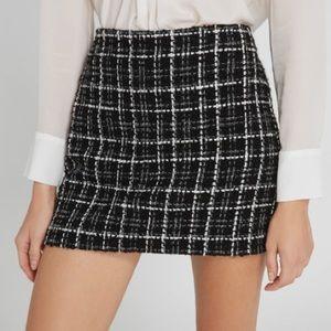 A+O Elana Tweed Mini Skirt